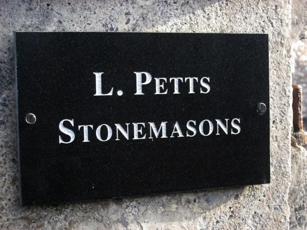 L. Petts Stonemasons